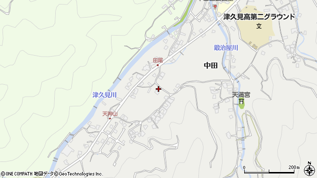大分県津久見市津久見5723周辺の地図