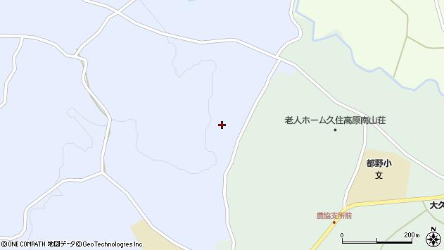 大分県竹田市久住町大字有氏517周辺の地図