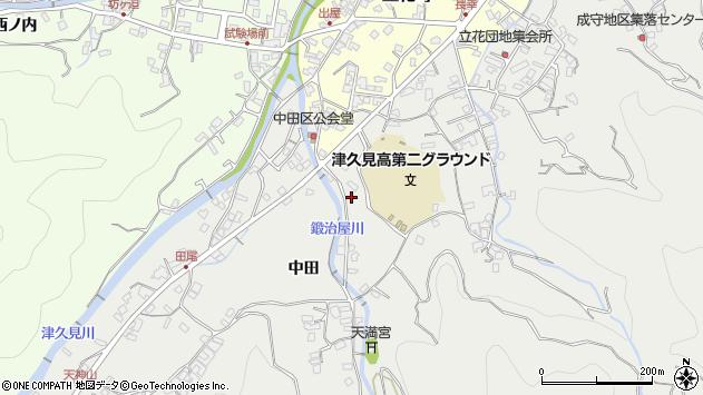 大分県津久見市津久見中田周辺の地図