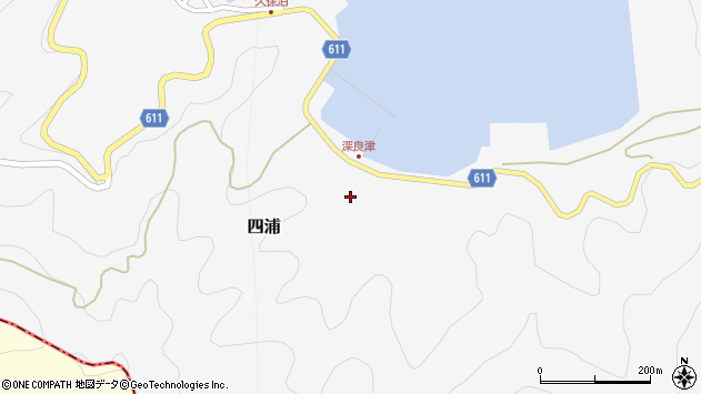 大分県津久見市四浦3174周辺の地図