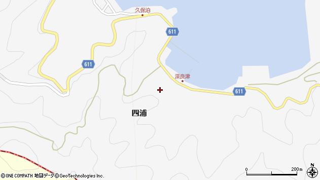 大分県津久見市四浦深良津周辺の地図