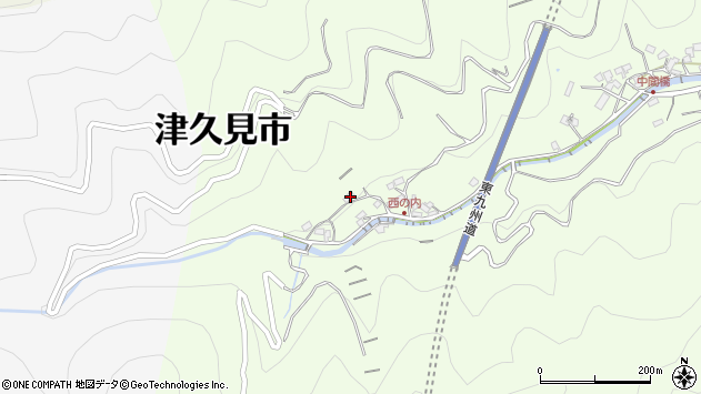 大分県津久見市津久見7792周辺の地図
