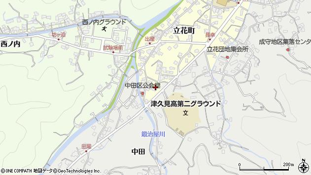 大分県津久見市立花町7周辺の地図