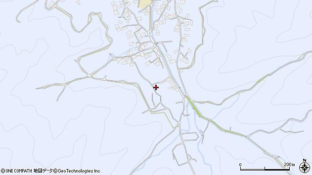大分県津久見市千怒2073周辺の地図