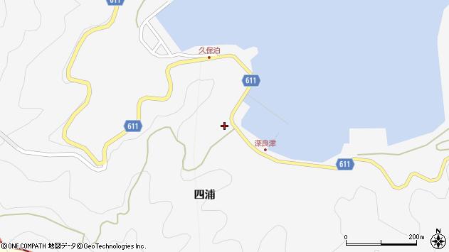 大分県津久見市四浦3040周辺の地図