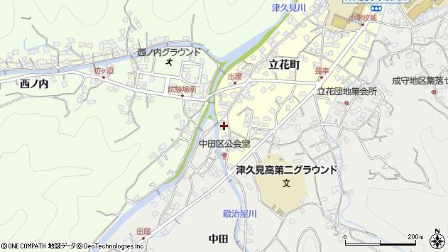 大分県津久見市立花町8周辺の地図