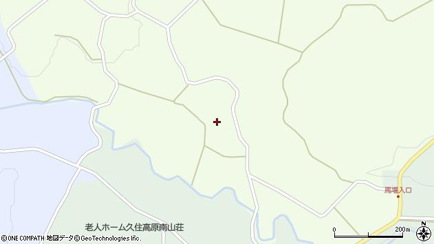 大分県竹田市久住町大字仏原156周辺の地図
