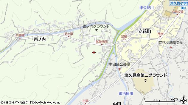 大分県津久見市津久見岩崎周辺の地図