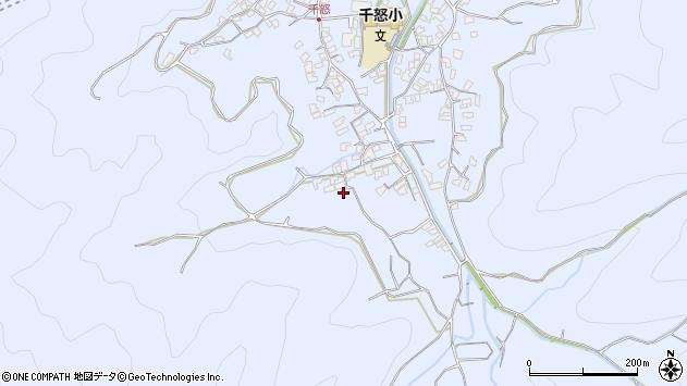 大分県津久見市千怒1754周辺の地図