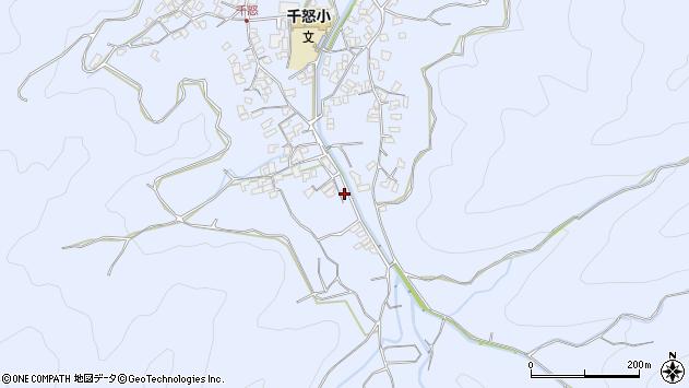 大分県津久見市千怒1955周辺の地図