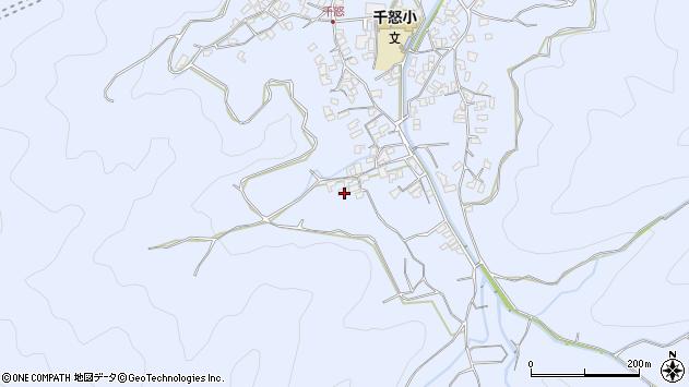 大分県津久見市千怒1755周辺の地図