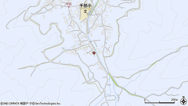 大分県津久見市千怒1965周辺の地図