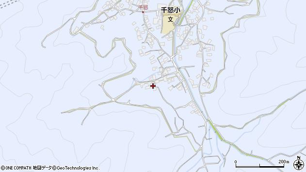 大分県津久見市千怒1753周辺の地図