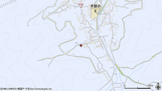 大分県津久見市千怒1770周辺の地図