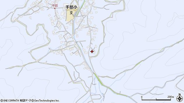 大分県津久見市千怒2663周辺の地図