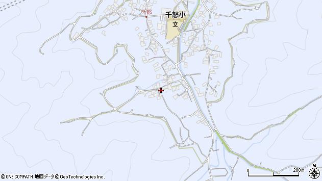 大分県津久見市千怒1750周辺の地図