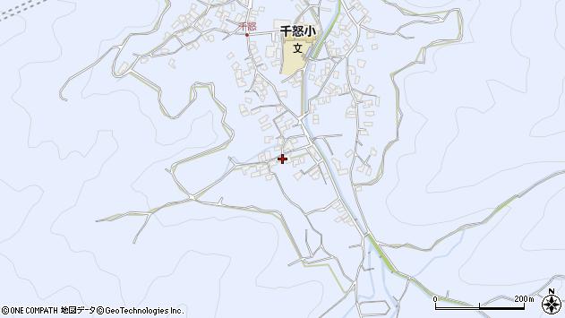 大分県津久見市千怒1749周辺の地図