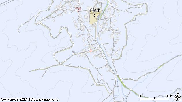 大分県津久見市千怒1748周辺の地図