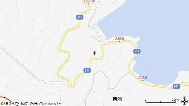 大分県津久見市四浦2876周辺の地図