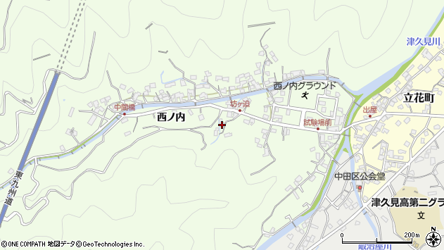 大分県津久見市津久見6946周辺の地図