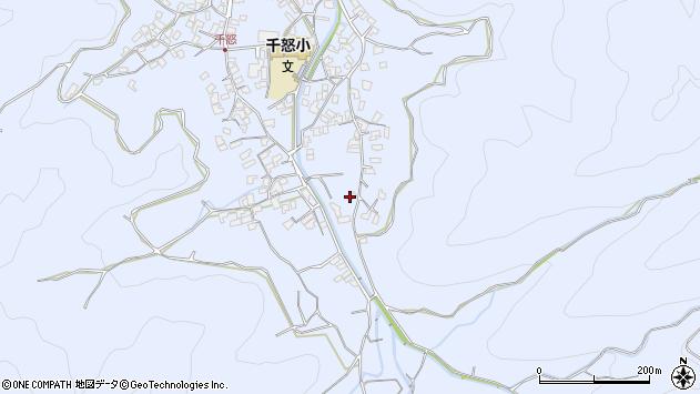 大分県津久見市千怒2687周辺の地図