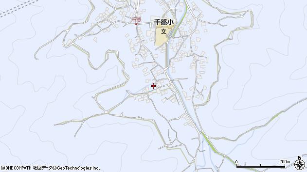 大分県津久見市千怒1743周辺の地図