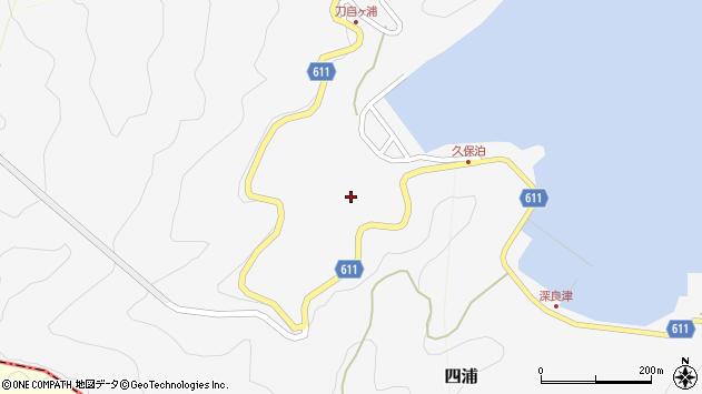 大分県津久見市四浦2892周辺の地図