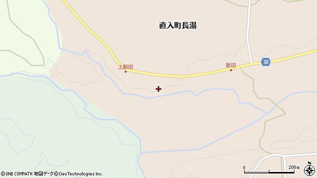 大分県竹田市直入町大字長湯新田周辺の地図