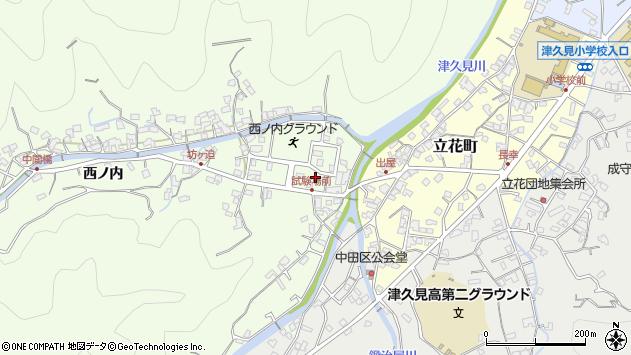 大分県津久見市津久見6724周辺の地図