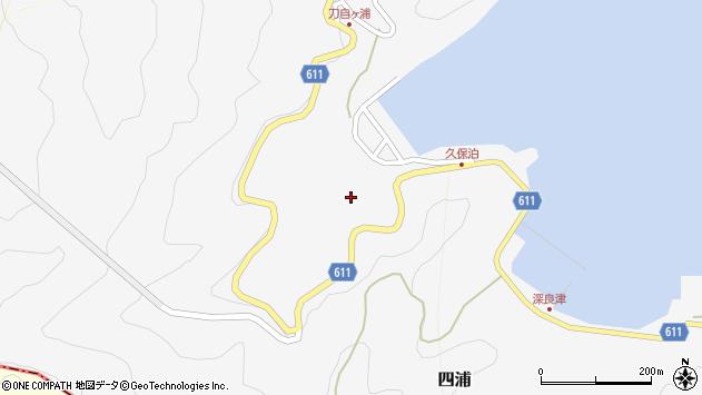 大分県津久見市四浦2886周辺の地図
