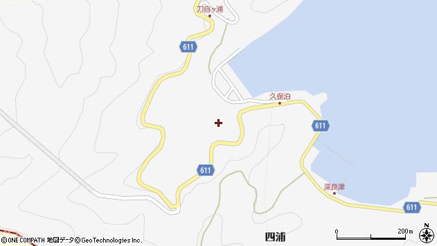 大分県津久見市四浦2882周辺の地図