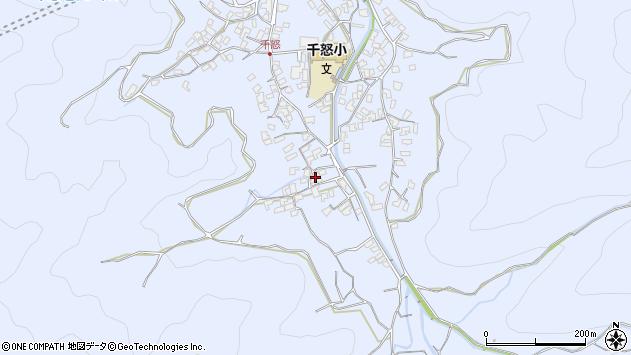 大分県津久見市千怒1744周辺の地図
