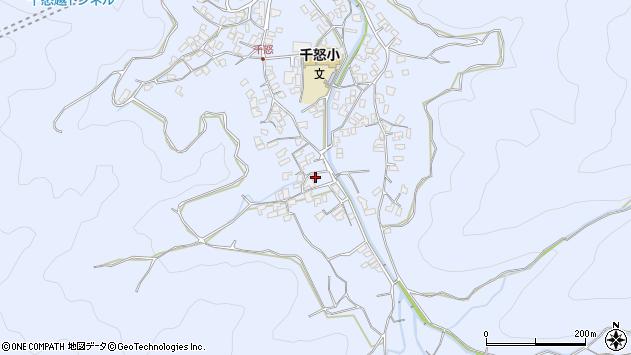 大分県津久見市千怒1746周辺の地図