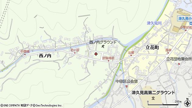 大分県津久見市津久見6701周辺の地図