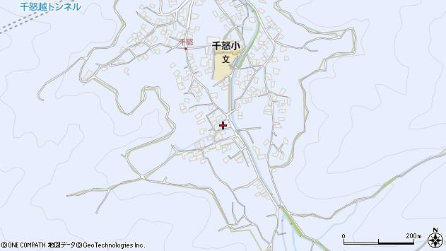 大分県津久見市千怒1723周辺の地図