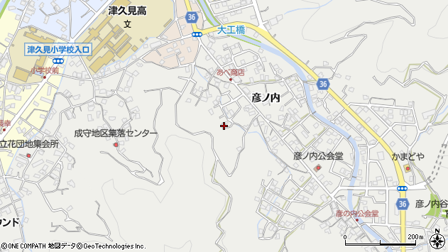 大分県津久見市津久見2445周辺の地図