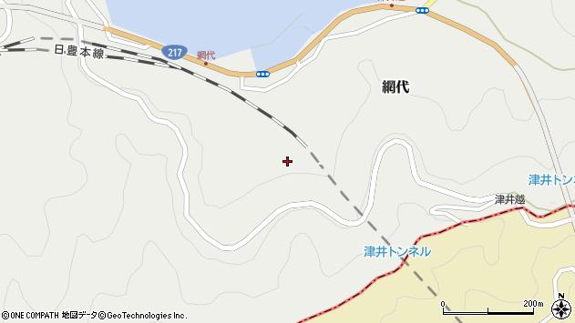 大分県津久見市網代網代周辺の地図