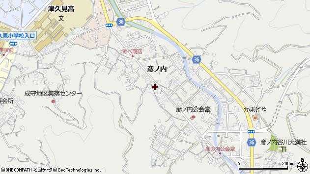 大分県津久見市津久見2153周辺の地図
