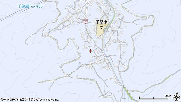 大分県津久見市千怒1737周辺の地図