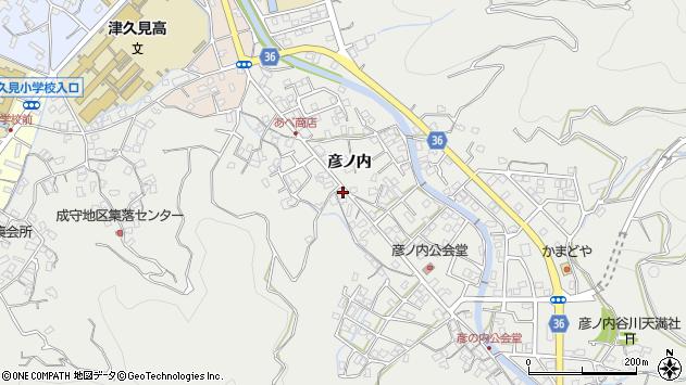 大分県津久見市津久見2151周辺の地図