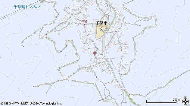 大分県津久見市千怒1728周辺の地図