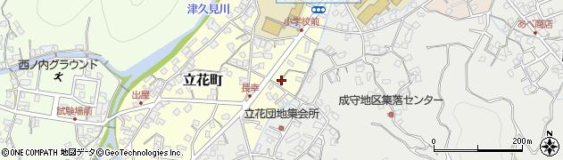 大分県津久見市立花町2周辺の地図
