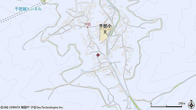 大分県津久見市千怒1734周辺の地図
