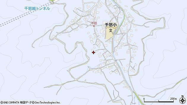 大分県津久見市千怒1656周辺の地図