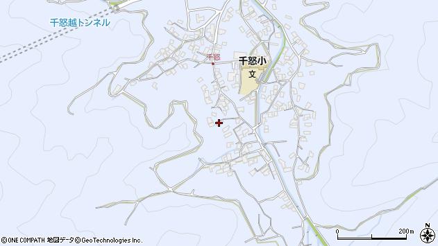 大分県津久見市千怒1735周辺の地図