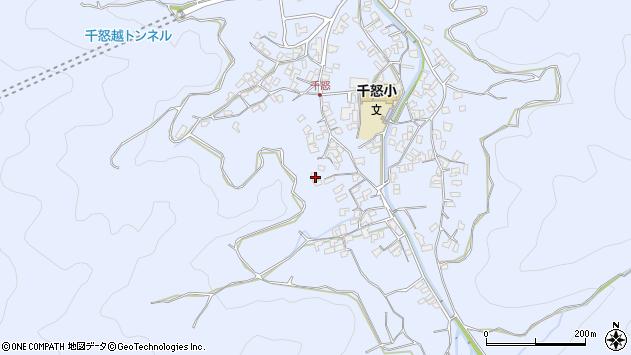 大分県津久見市千怒1657周辺の地図