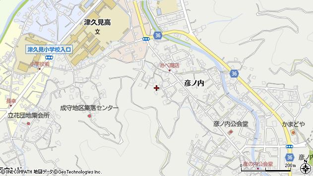 大分県津久見市津久見2449周辺の地図