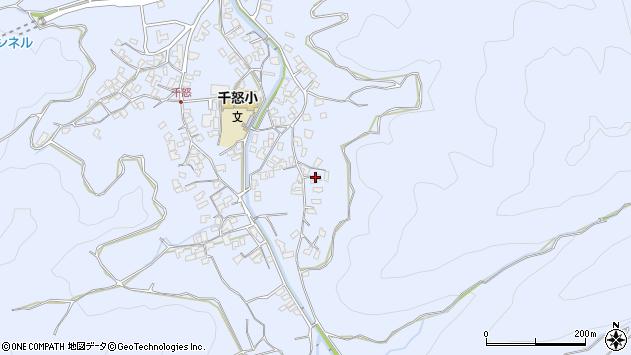 大分県津久見市千怒2783周辺の地図