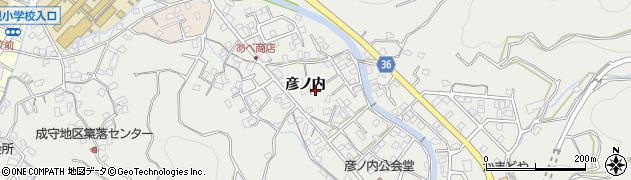 大分県津久見市津久見中鶴周辺の地図