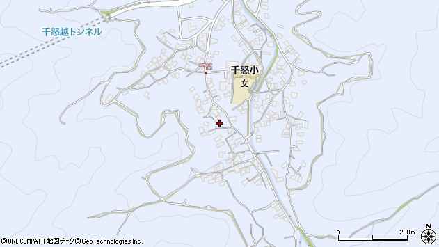 大分県津久見市千怒1697周辺の地図
